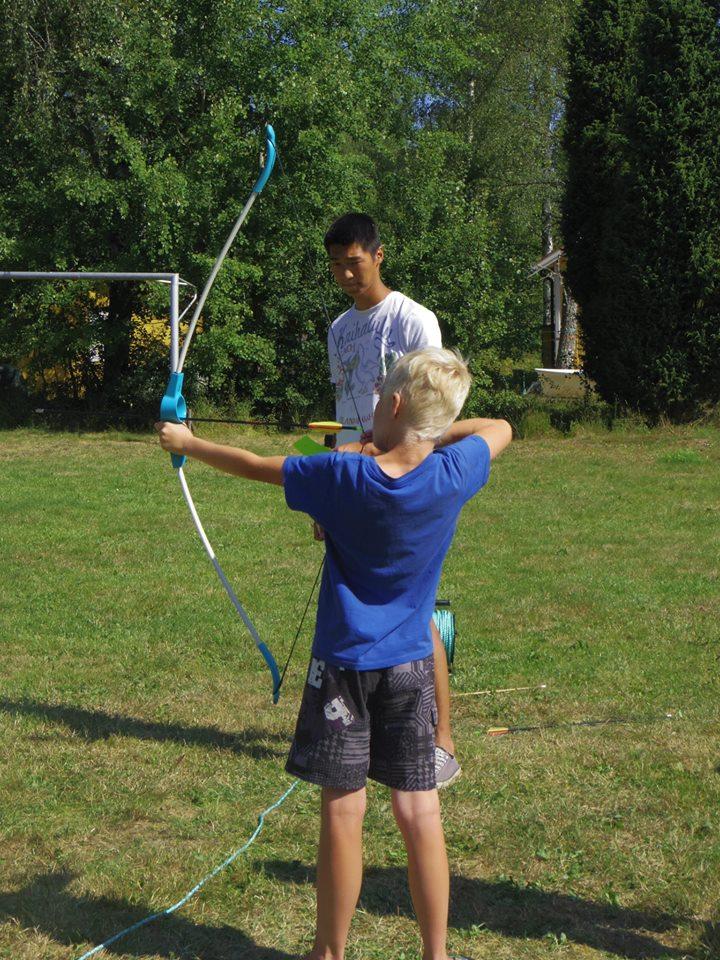 Boogschieten op Stensjö Camping in Zweden