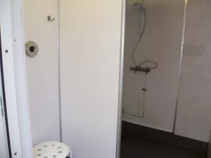 Campsite in Sweden: sanitary building