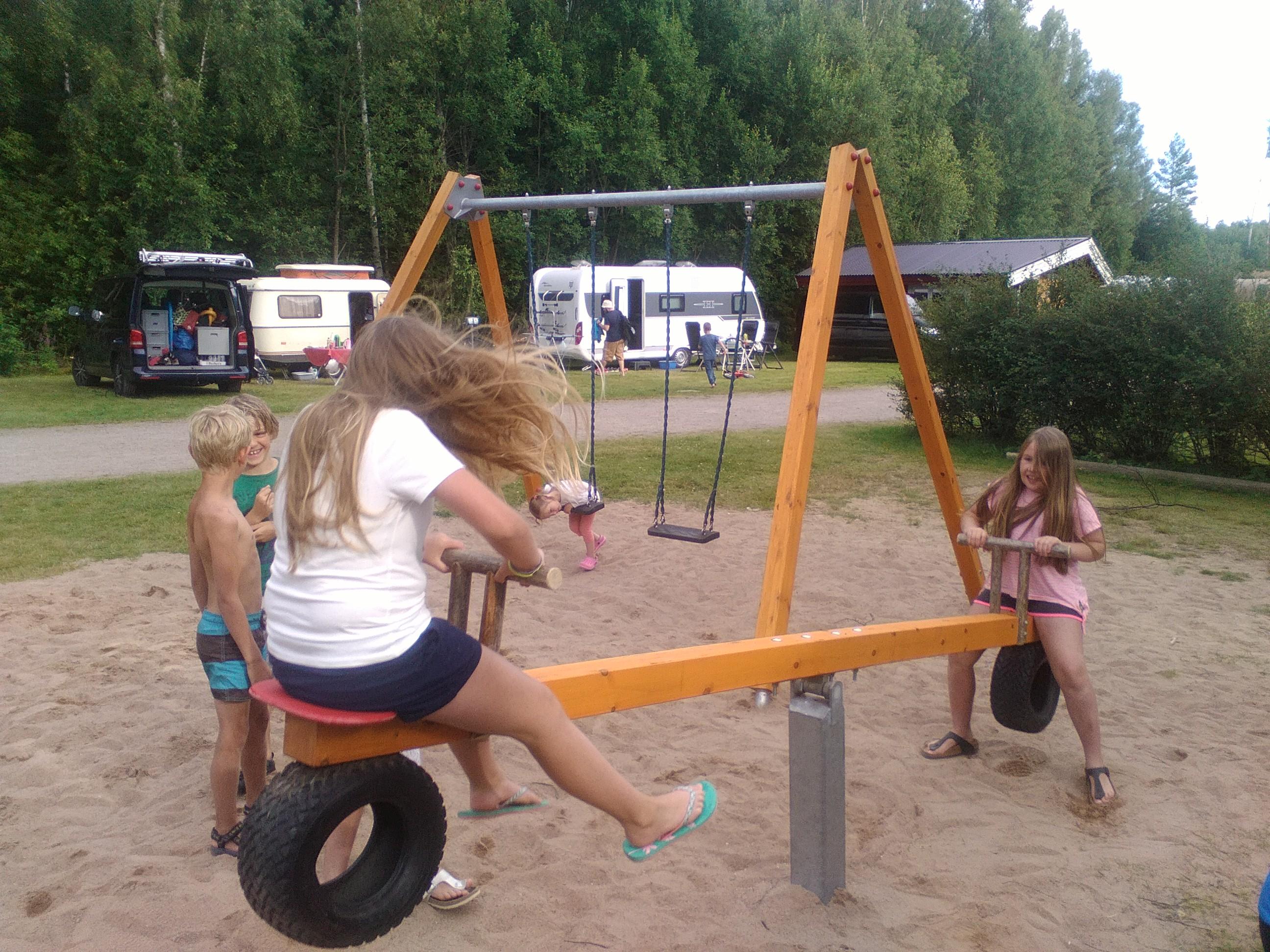 Speelplaats camping