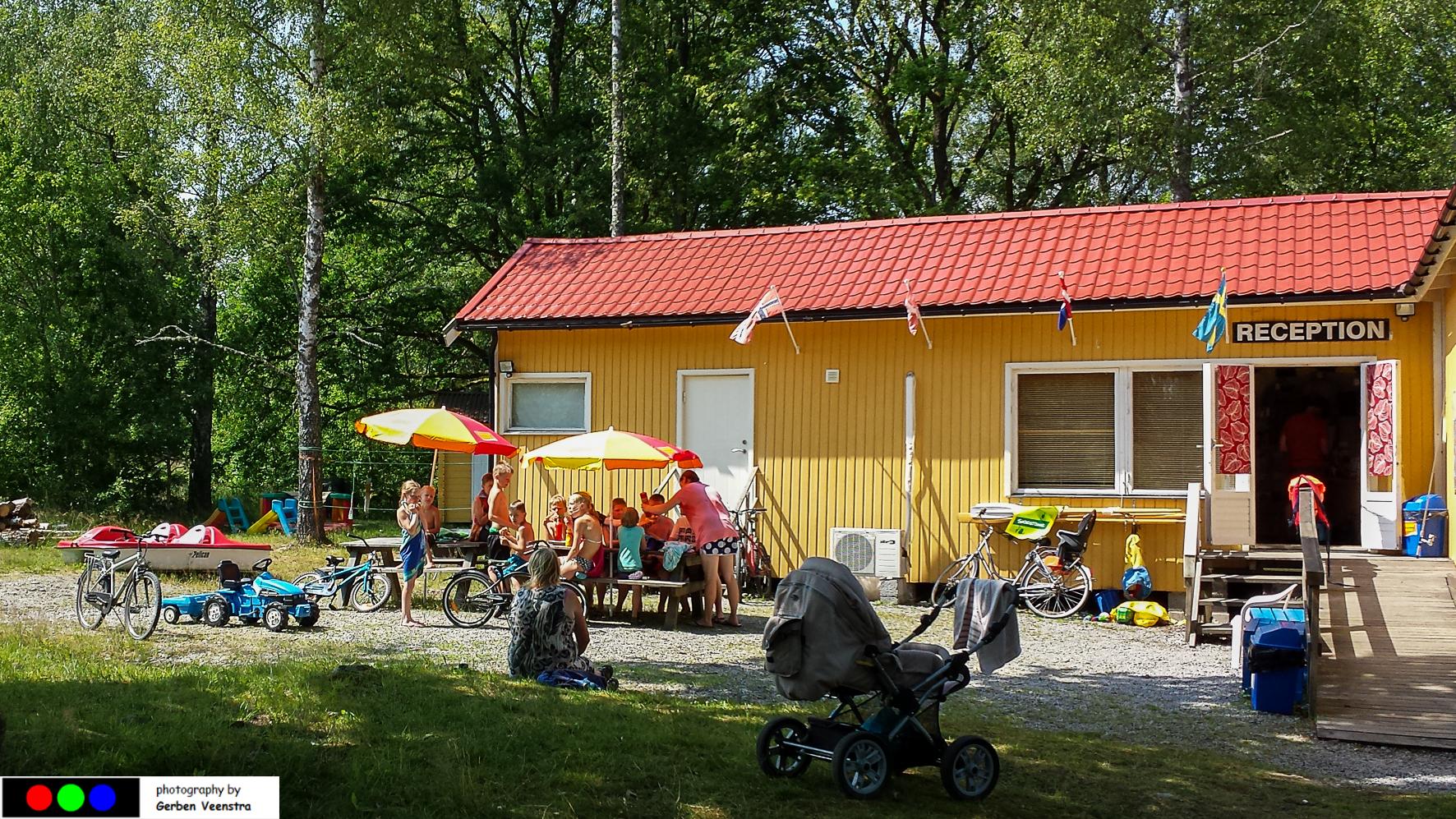 Camping in Zweden: receptie Stensjö Camping